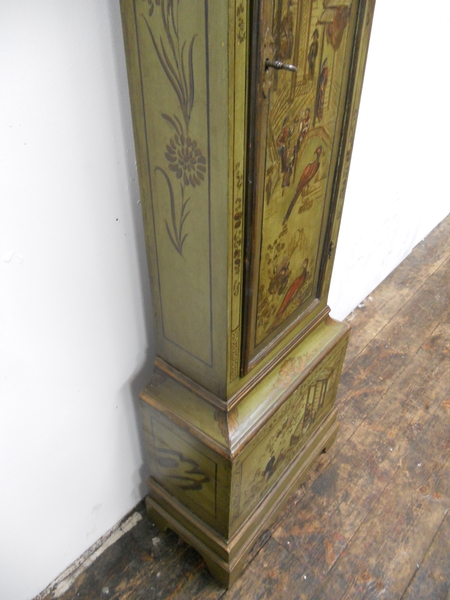 Antique George III Japanned Longcase Clock