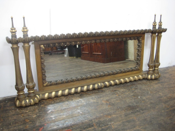 Victorian Carved Overmantel Mirror