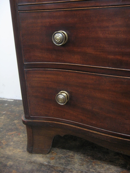 Antique George III Serpentine Chest of Drawers