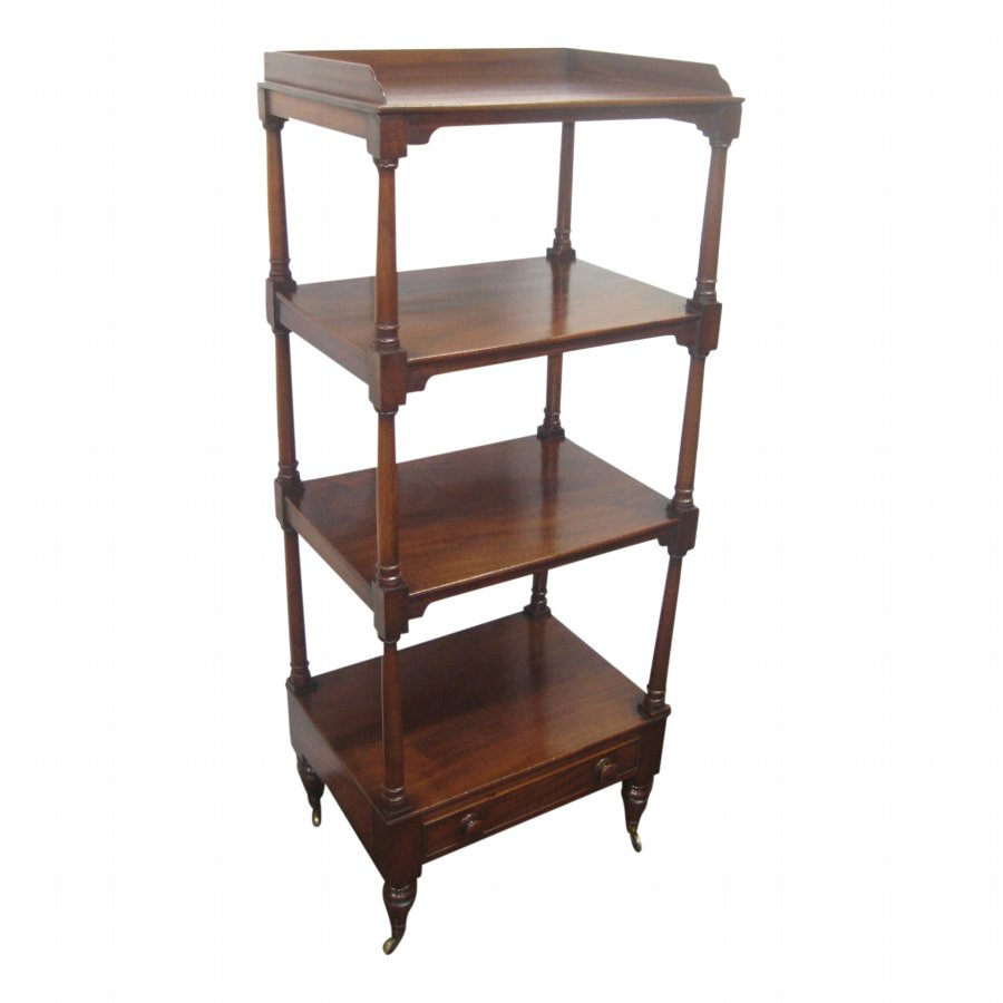 George IV Mahogany 4 Tier Whatnot