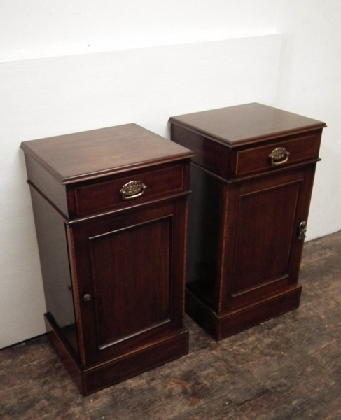 Pair of Mahogany Bedside Lockers