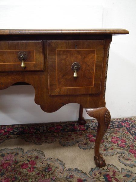Antique Queen Anne Style Walnut Lowboy