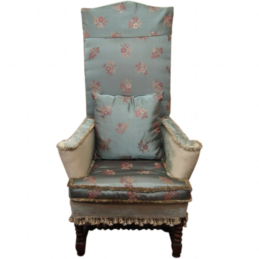 William and Mary Style High Back Chair