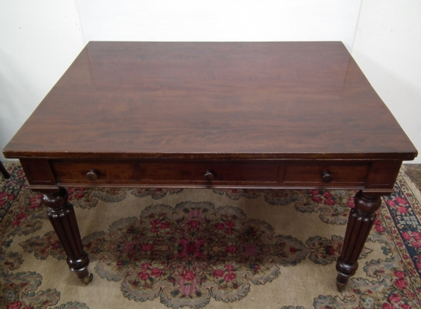 Antique Gillows of Lancaster Rare Mahogany Library Table