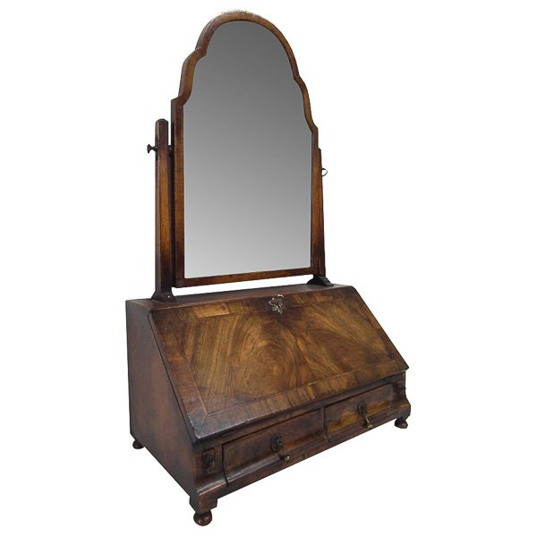 Queen Anne Style Walnut Dressing Mirror