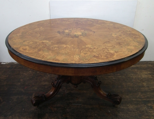 Exhibition Quality Mid Victorian Marquetry Breakfast Table