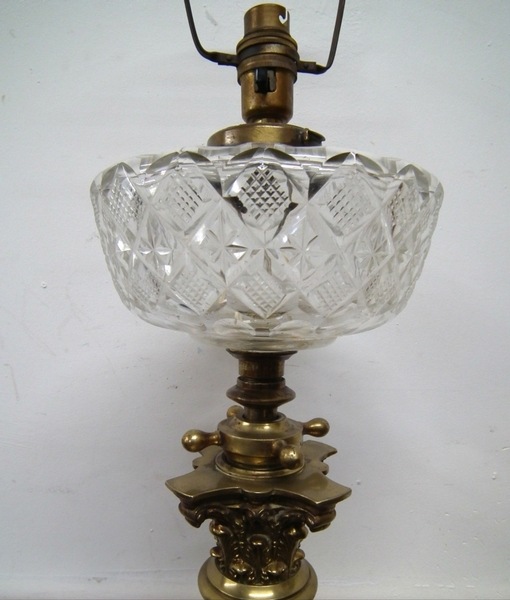 Antique Victorian Floor Standing Oil Lamp