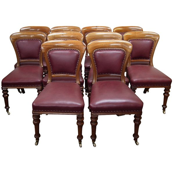 :SALE: Set of 10 Mid Victorian Scottish Mahogany Dining Chairs