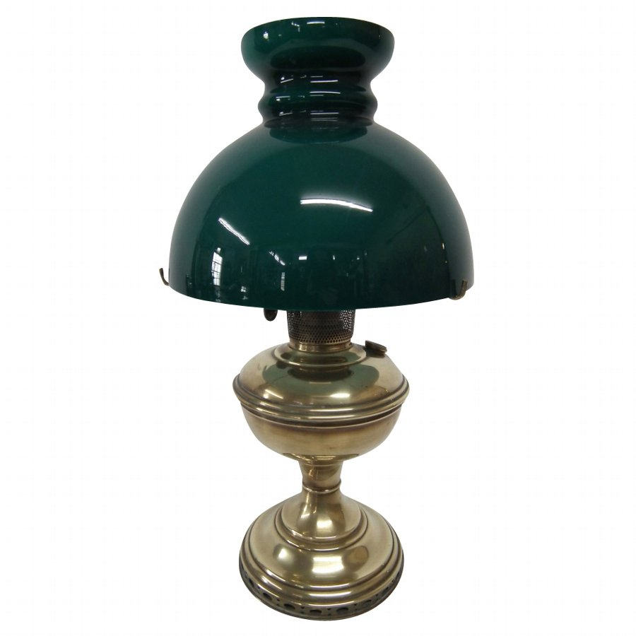 Victorian Small Brass and Glass Paraffin Lamp
