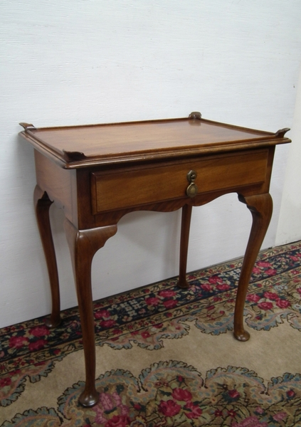 George III Style Tray Top Mahogany Occasional Table