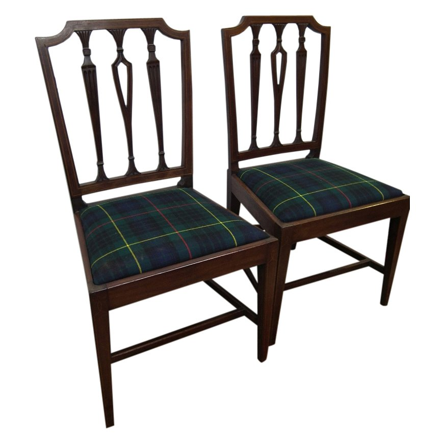 Pair of George III Mahogany Chairs
