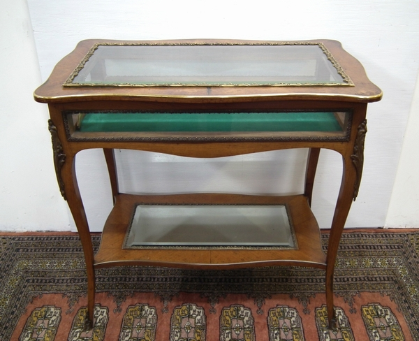 Kingwood and Gilt Metal Mounted Table Vitrine