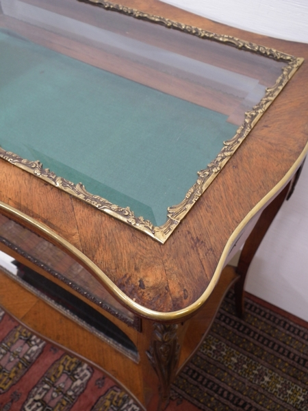 Antique Kingwood and Gilt Metal Mounted Table Vitrine