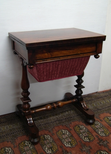 William IV Rosewood Workbox