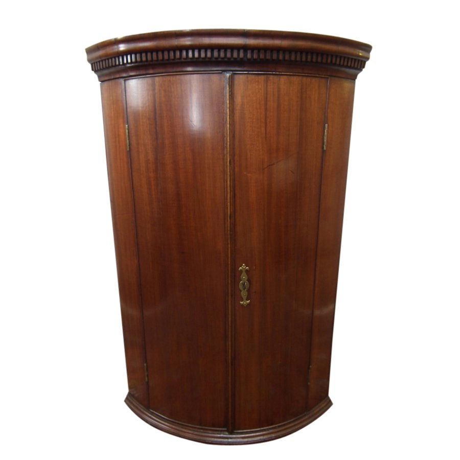 Early George III Mahogany Corner Cupboard