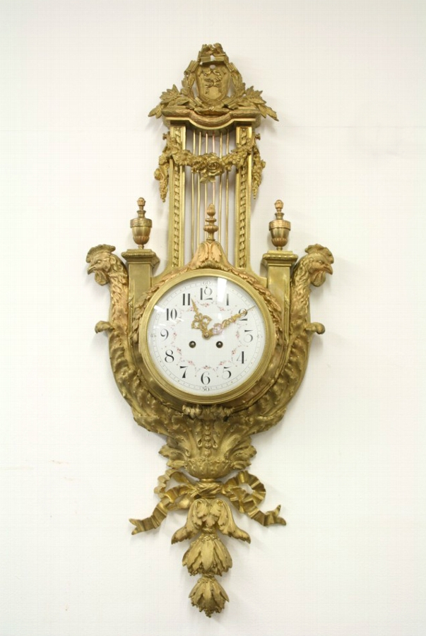 French Cast Brass Wall Clock