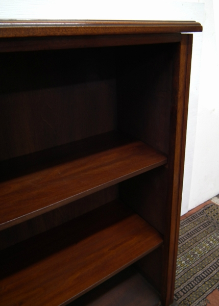 Antique Late Victorian Neat Sized Walnut Open Bookcase