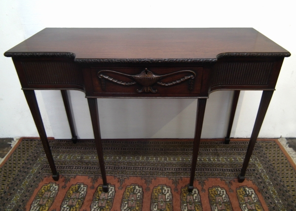 Adams Style Carved Mahogany Side Table