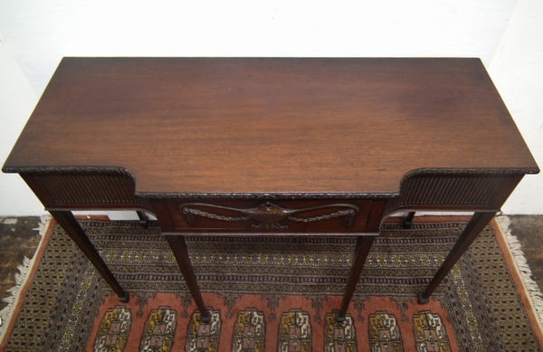Antique Adams Style Carved Mahogany Side Table
