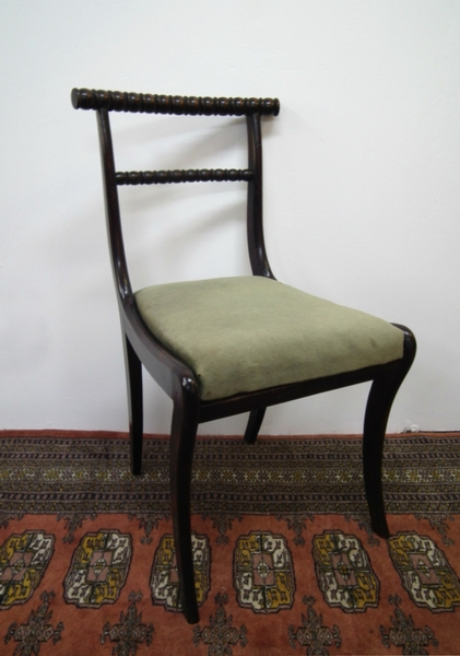 Antique Set of 6 Regency Faux Rosewood Chairs