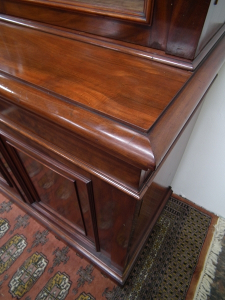Antique Exhibition Quality Victorian Mahogany Cabinet Bookcase