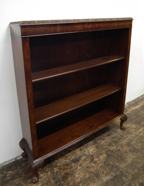 Burr Walnut Open Bookcase