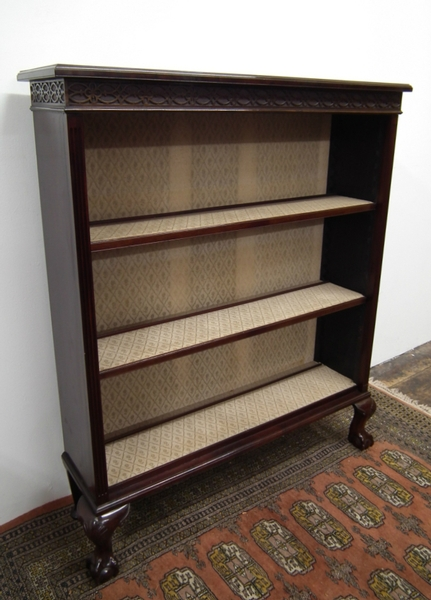Chippendale Style Mahogany Open Bookcase