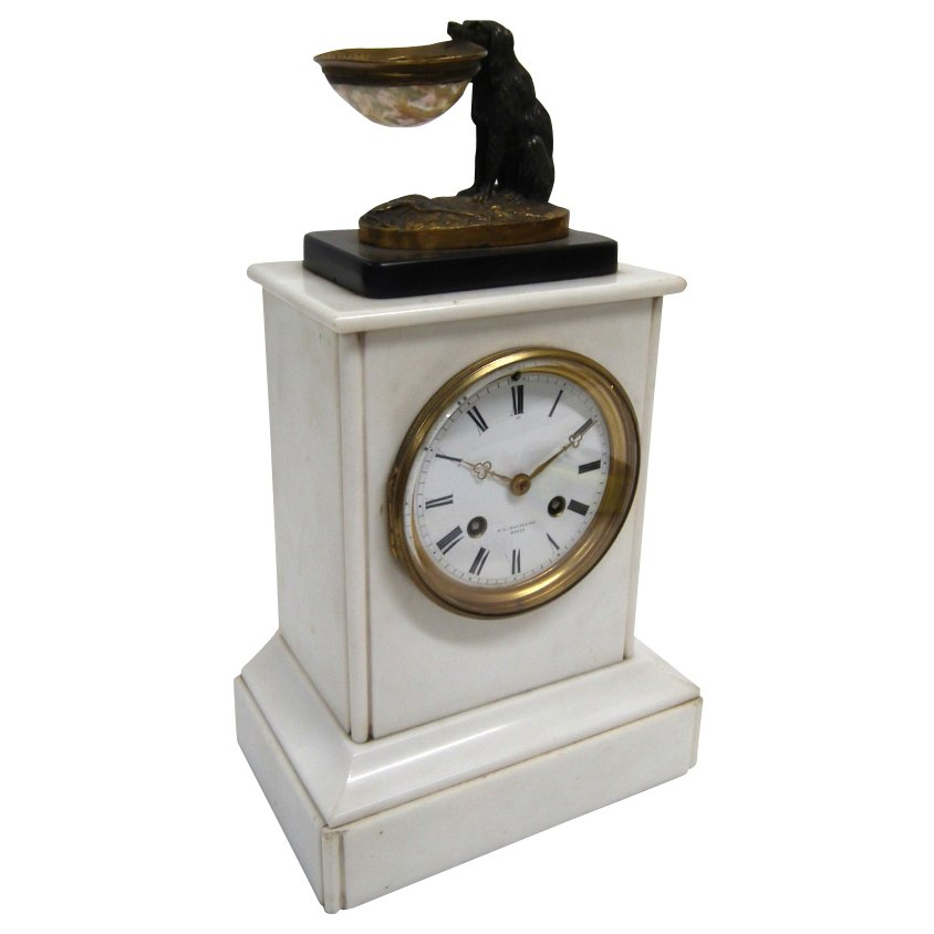 Victorian White Marble Clock