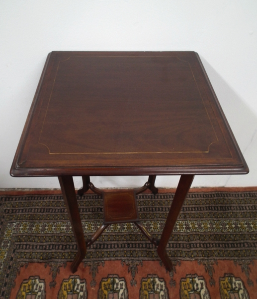Antique Edwardian Sheraton Style Occasional Table