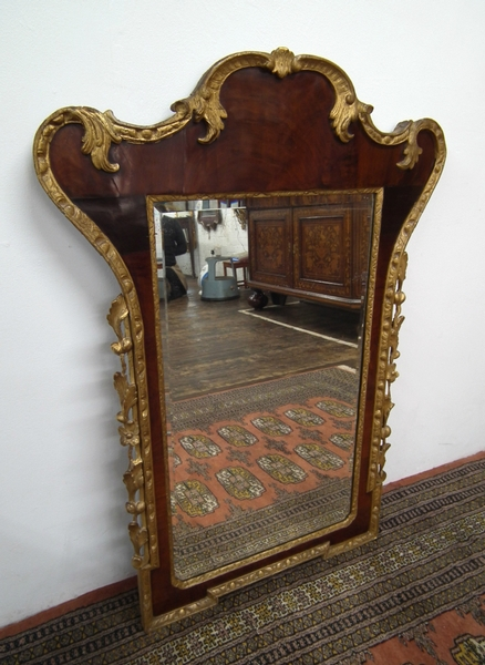 Antique George Ii Mahogany And Gilt Mirror Antiques Co Uk