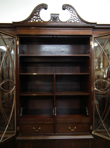Antique :SALE: George III Style Four Door Cabinet Bookcase