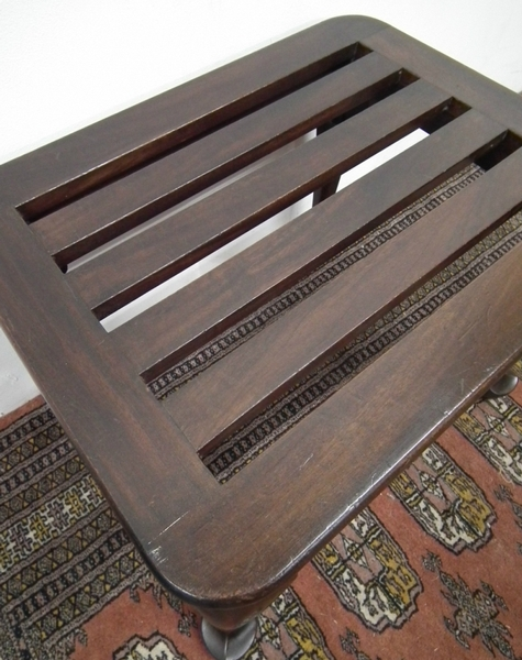 Antique Whytock & Reid Mahogany Luggage Rack
