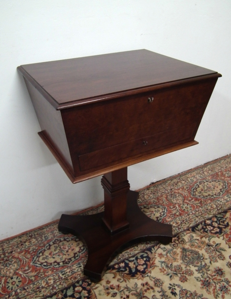George IV Mahogany Teapoy/Sewing Table