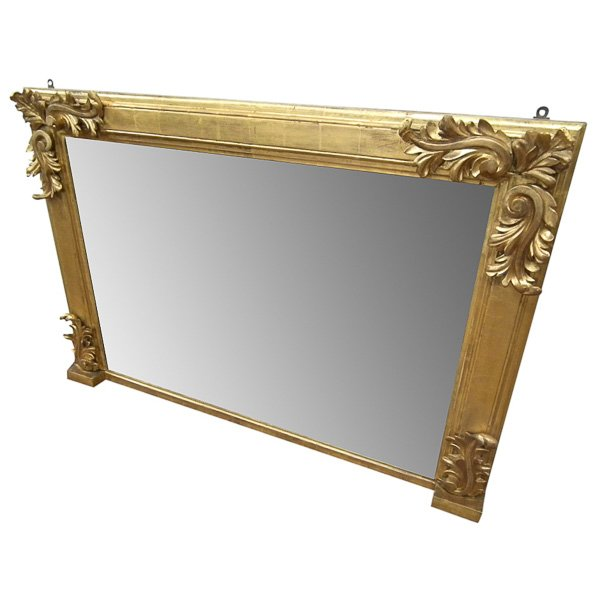 Early Victorian Carved Giltwood Overmantel Mirror