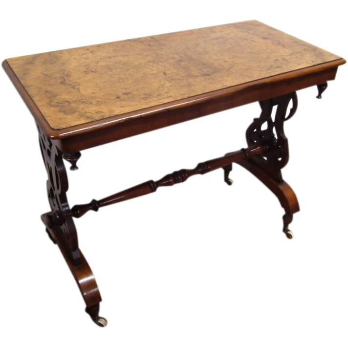 Mid Victorian Burr Walnut Occasional Table