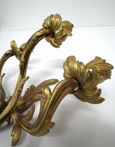Antique Pair of Ormolu Wall Sconces