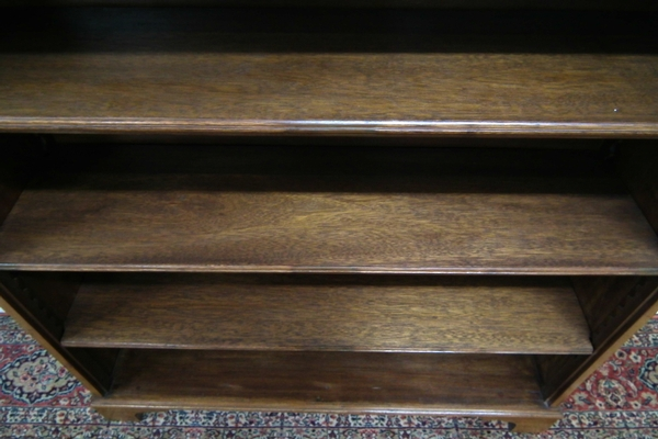 Antique Edwardian Mahogany Open Bookcase