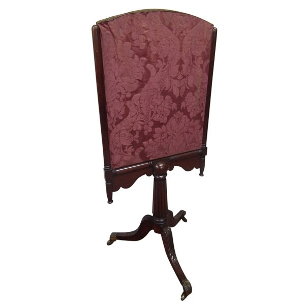 Late Georgian Mahogany Fire Screen