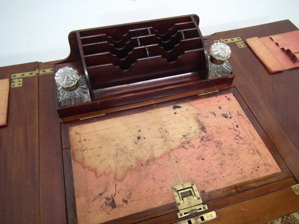 Antique :SALE: Jack In The Box Writing Table/Sewing Box