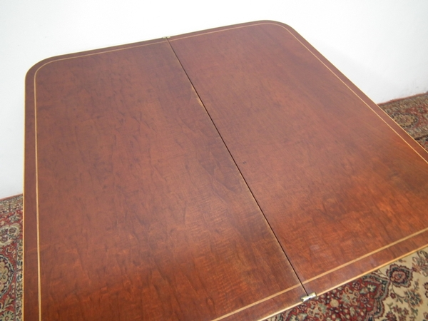 Antique Scottish Mahogany Fold Over Tea Table