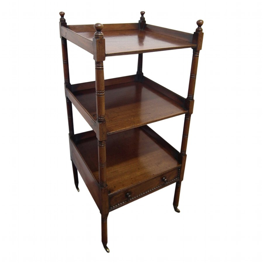 Scottish Mahogany 3 Tier Whatnot