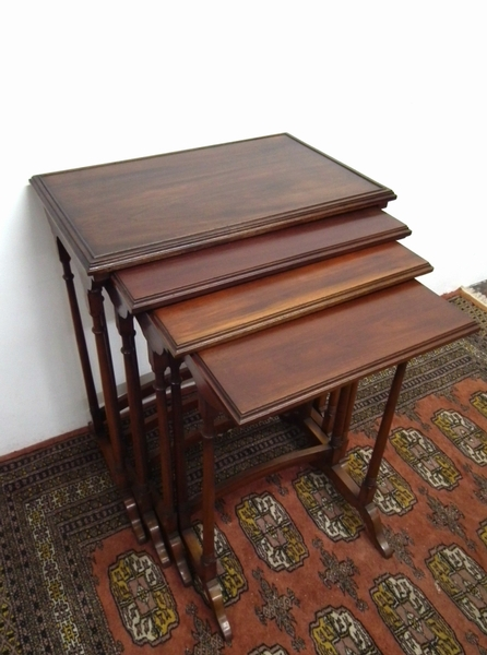 Nest of 4 Georgian Style Mahogany Tables