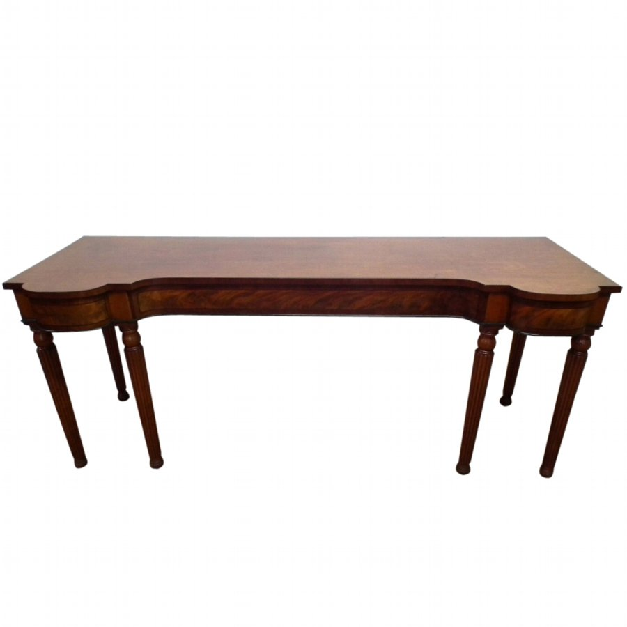 Late George III Mahogany Serving Table