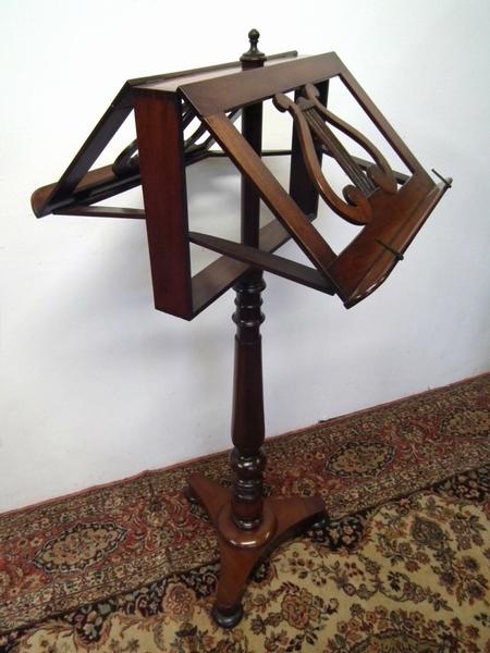 Antique Regency Mahogany Adjustable Duet Music Stand
