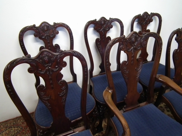 Antique Set of 6 George II Style Mahogany Chairs