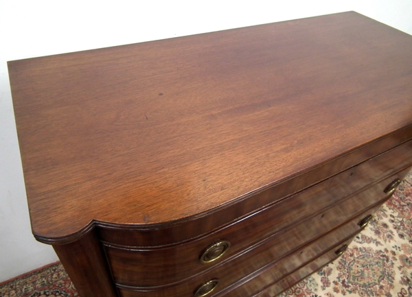 Antique William IV Barrel Front Chest of Drawers
