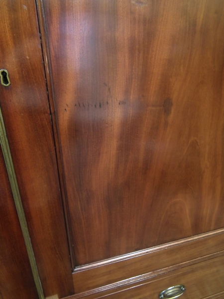 Antique George III Mahogany Linen Press