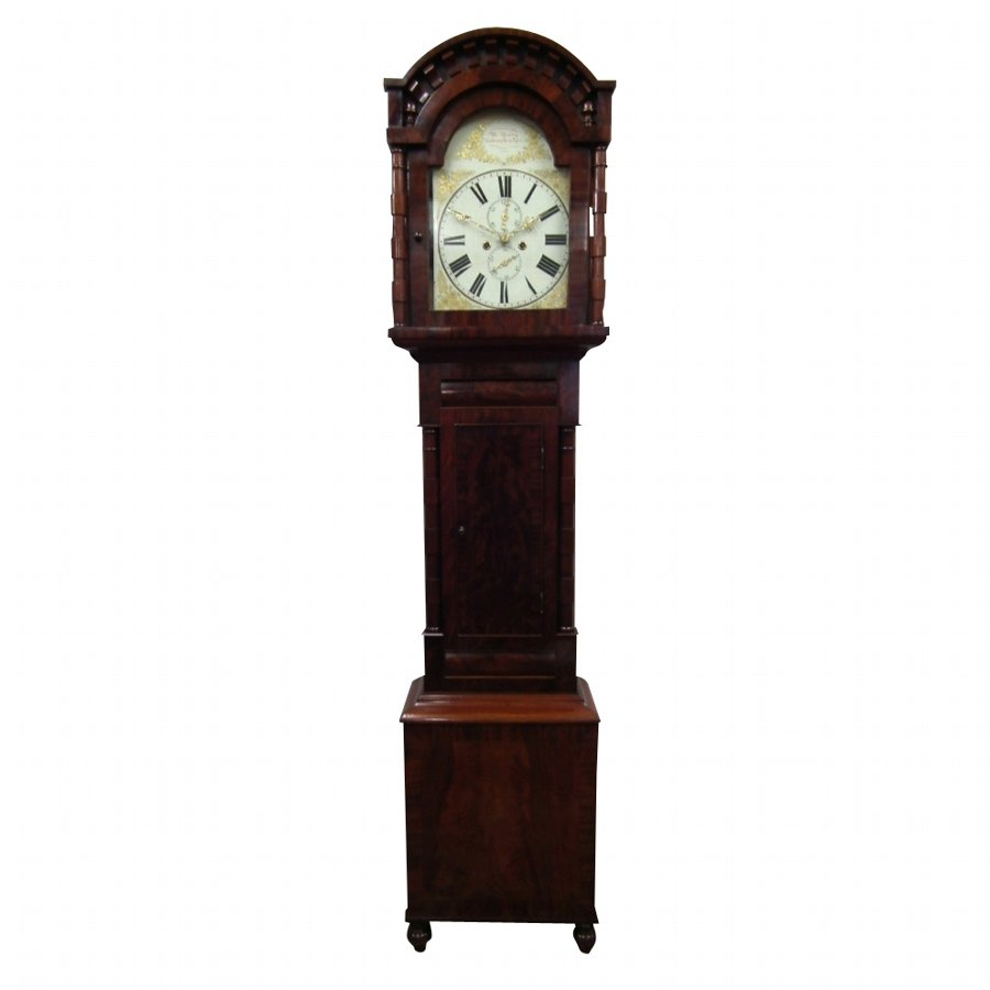 Mid Victorian Mahogany Grandfather Clock