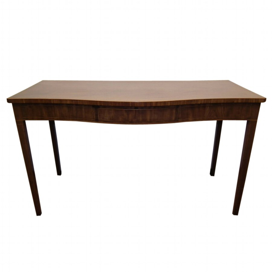 George III Mahogany Serpentine Serving Table