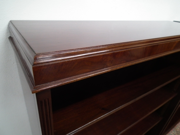 Antique Pair of Mahogany Open Bookcases